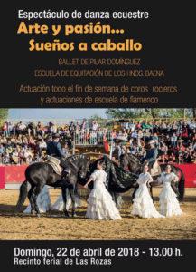 Cartel Arte y pasión... Sueños a caballo - 22 de abril en Las Rozas de Madrid