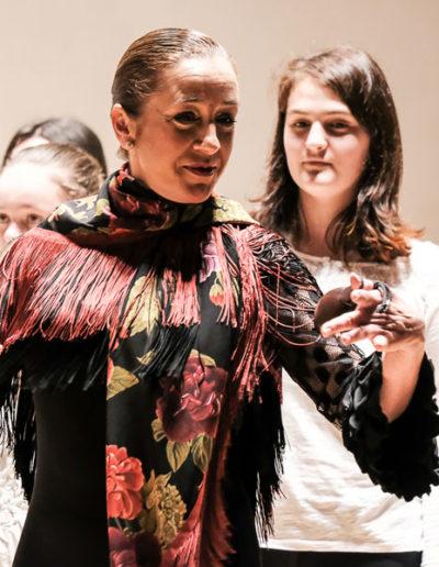 En el Auditorio Nacional, con el Coro de Voces Blancas del Conservatorio Profesional de Música Teresa Berganza.