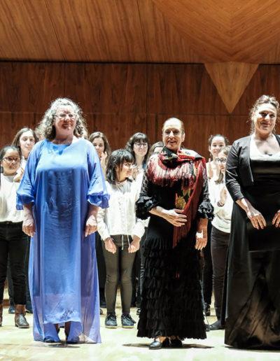 En el Auditorio Nacional, con el Coro de Voces Blancas del Conservatorio Teresa Berganza.